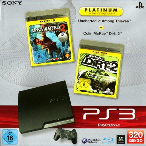 PS3 - Konsole Slim Black 320GB inkl. Uncharted 2: Among Thieves