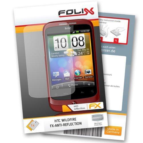 FoliX FX-Antireflex Displayschutzfolie für HTC Wildfire -