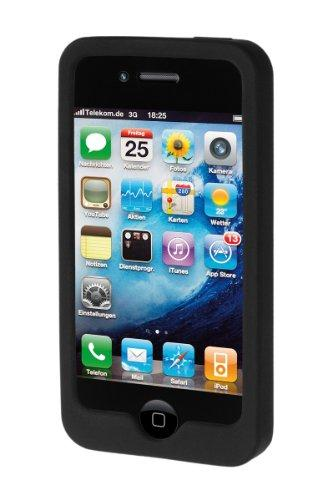 Artwizz SeeJacket Silicone für iPhone 4, schwarz