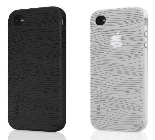 Belkin Apple iPhone 4 Grip Groove Silikon Schutzhülle (2er