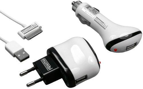 3 in 1 Zubehör Set Ladegerät KFZ Ladekabel USB Datenkabel