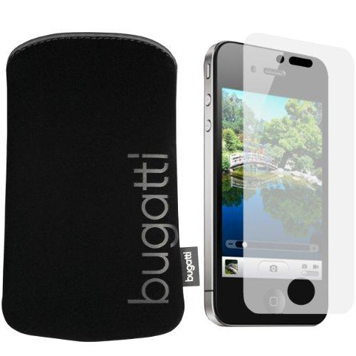 BUGATTI Neopren Tasche iPhone 4 Hülle mit mumbi iPhone4