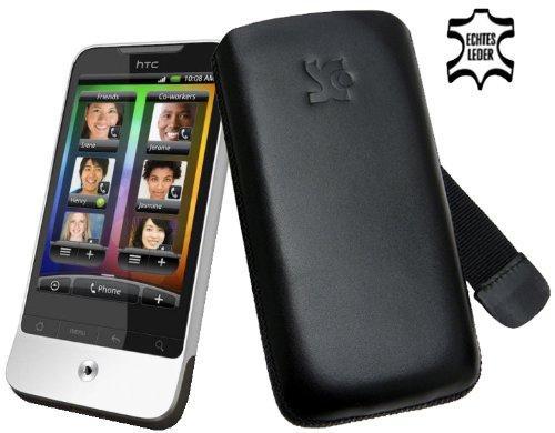 Suncase Leder Etui für HTC Legend schwarz