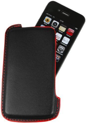 iPhone 4 Hülle - Elegantes Leder Etui / Pouch / Tasche für