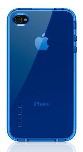 Belkin Apple iPhone 4 Grip Vue TPU Hülle blau