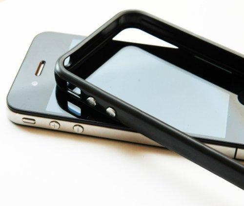 Schutzhülle für iPhone 4 mit Metallbuttons ...:::SCHWARZ