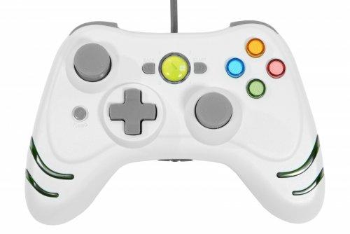 Xbox360 Wired Wildfire Controller (White) with Turbo-RapidFire