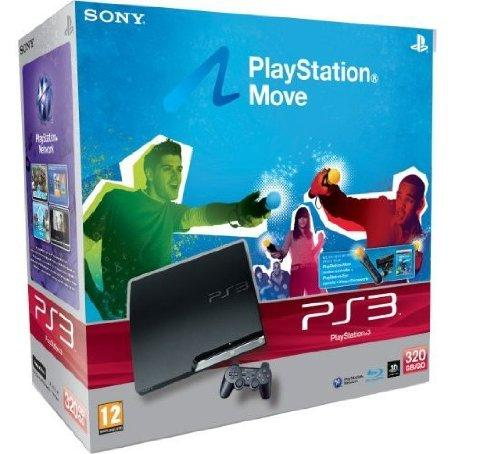 PlayStation 3 - Konsole Slim 320 GB inkl. Move Starter Pack