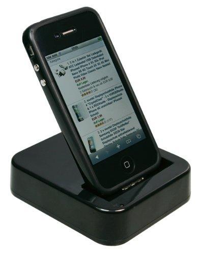 mumbi USB Dock iPhone 4 Dockingstation MIT und OHNE Bumper