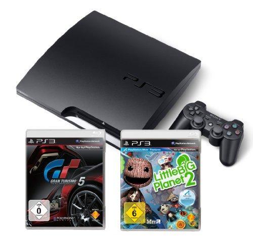 PlayStation 3 - Konsole Slim 160 GB inkl. Gran Tursimo 5 +