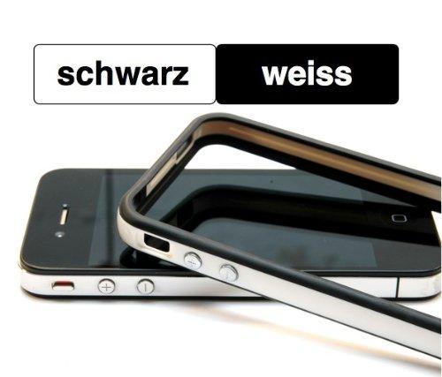 Schutzhülle für iPhone 4 ..::: SCHWARZ - WEISS :::.. mit