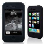 SportGrip iSkin Black – Silikon-Tasche & Displayschutz für