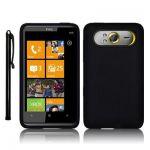 HTC HD7 SILIKON SKIN CASE SCHUTZHUELLE IN SCHWARZ + STYLUS STIFT