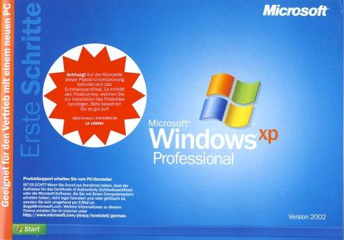 Windows XP Professional OEM inkl. Service Pack 3
