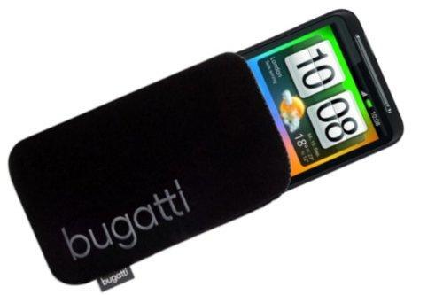BUGATTI Luxus Tasche Neopren Case passend für HTC Desire HD