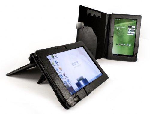 Tuff-Luv Leder Tasche Case für Acer Iconia W500