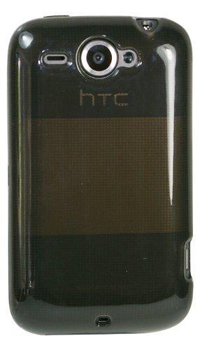 mumbi Silikon Skin HTC Wildfire Tasche - transparent schwarz /