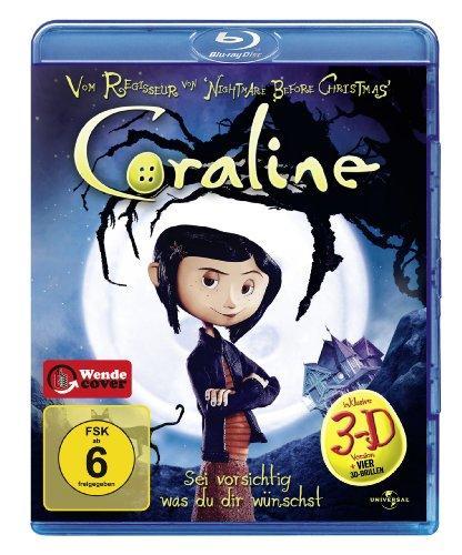 Coraline (2D- + 3D-Version des Films inkl. vier 3D-Brillen)
