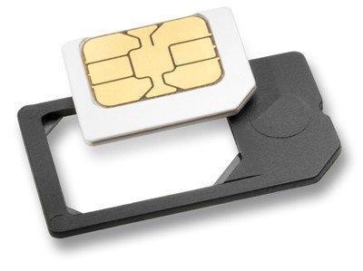 MicroSIM Adapter mit eingebauter Halterung, sicheres einlegen