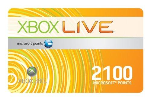 Xbox 360 - Live Points Card (2100 Punkte)