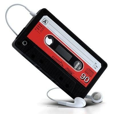 LUPO Retro Kassetten Style Silikon Skin für iPhone 4S, 4 -