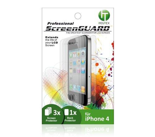 3x Display Schutzfolie mit 1x Back Protector (Schutzfolie für
