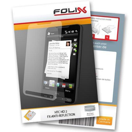 FX-ANTIREFLEX Displayschutzfolie für HTC HD2 / touch-HD-2