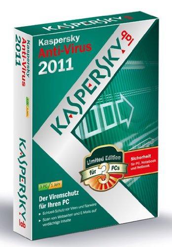 Kaspersky Anti-Virus 2011 - Lizenz für 3 PCs