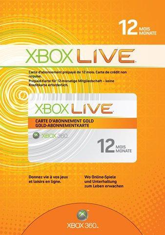 Xbox 360 - Live Gold (12 Monate)