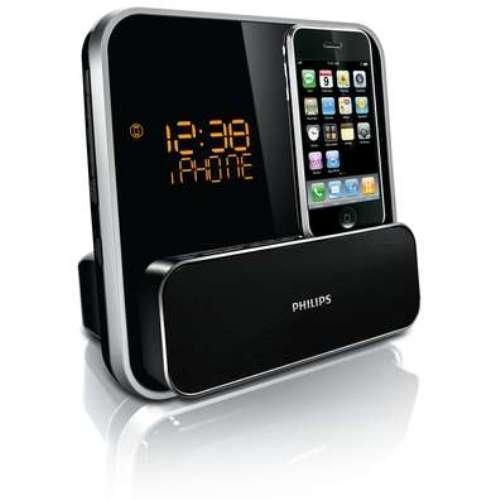 Philips DC315 Radiowecker (UKW-Tuner, Apple iPod-/iPhone-Dock,