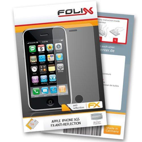 FoliX FX-Antireflex Displayschutzfolie für Apple iPhone 3Gs /