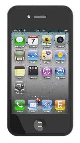 Skin Tasche für iPhone 4 und Displayschutzfolie - Schwarz