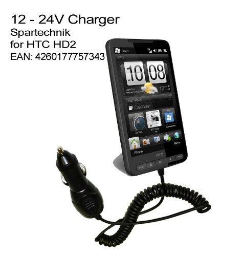 Autolader HTC HD2: KfZ Ladekabel für HTC Smartphone HD 2
