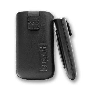 bugatti Slim Case Leder schwarz für Apple iPhone 3G S / 3GS