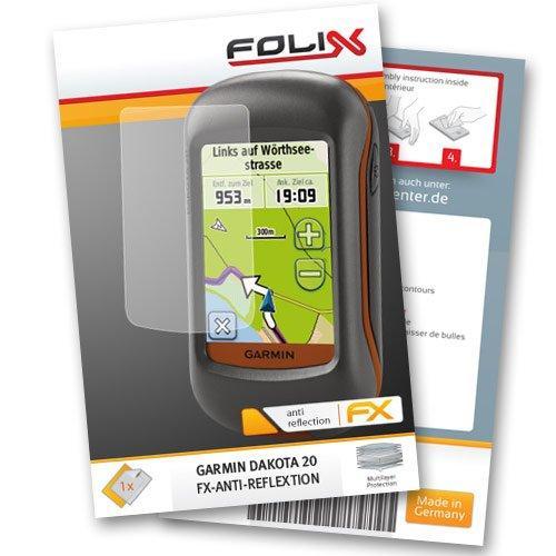 FoliX FX-Antireflex Displayschutzfolie für Garmin Dakota 20 /
